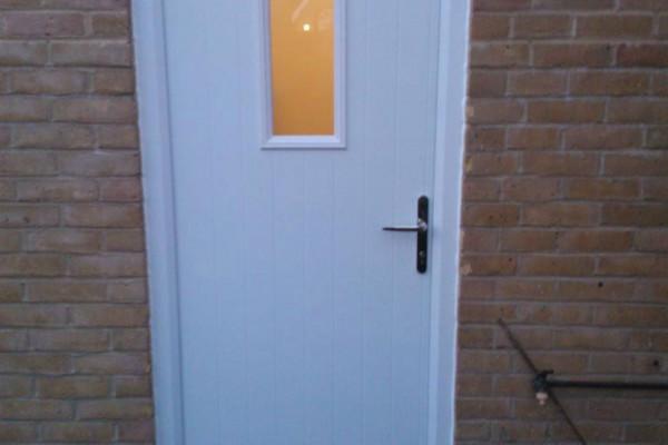 white 1 square Composite Door