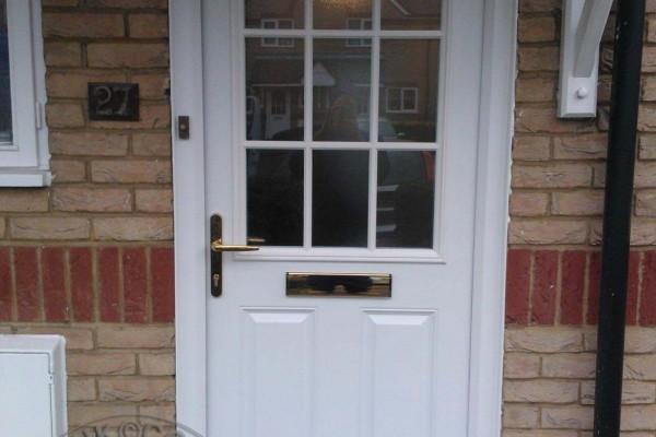 white-2-panel-1-grill-Global-Composite-Door