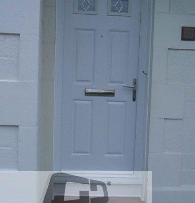 white 4 panel 2 square Composite Door