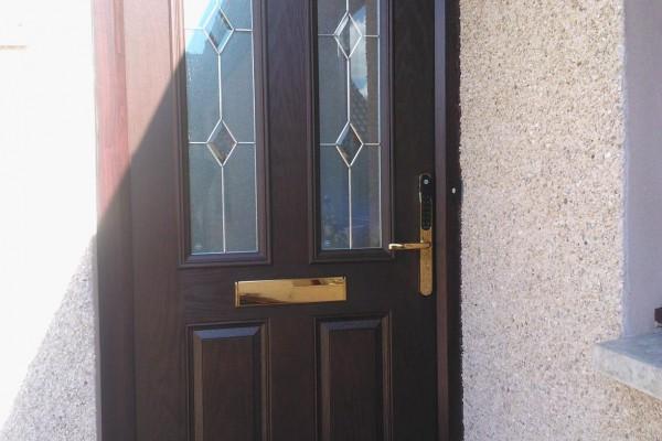 woodgrain 2 panel 2 arch Composite Door 3