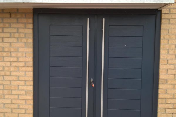 Anthracite Grey Palermo Solid French Doors
