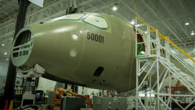 Photo of First Flight Test Vehicle for Bombardier CSeries Underway