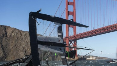 Photo of Oracle Team USA 17 Capsizes During Training in San Francisco