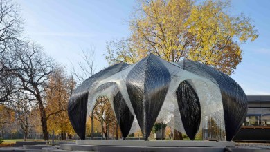 Photo of Robotically Fabricated Composites Pavilion