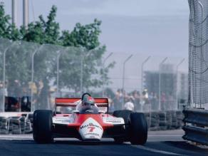 John Watson racing the MP4 at the Detroit GP back in 1982