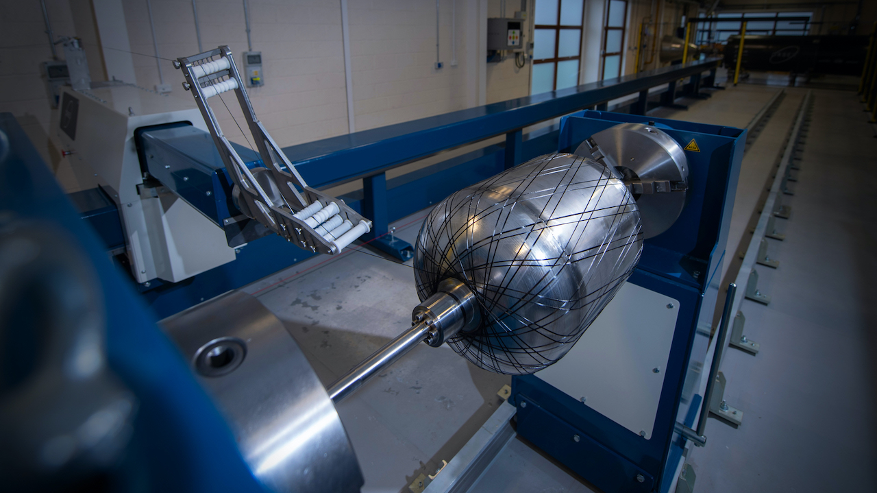 Orbex has installed one of the largest high-speed automated carbon fibre winding machines in Europe