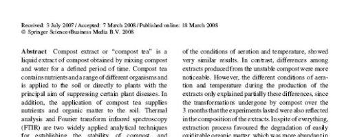 Estudio térmico y espectrofotométrico del Té de Composts