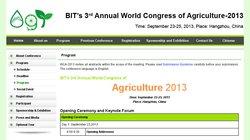 Explorando los avances en la ciencia de la agricultura: el BIT´s 3rd Annual World Congress in Agriculture 2013