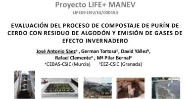 Emisión de gases de efecto invernadero durante el compostaje de alperujo