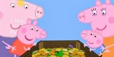 Pepa Pig y el compost