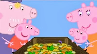 Peppa pig y el compost