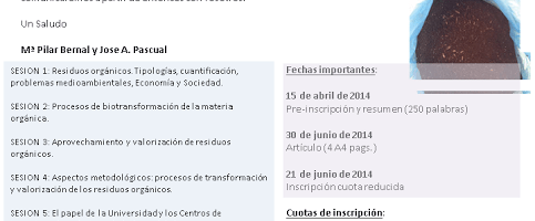 IV Jornadas de la Red Española de Compostaje (REC), 12-14 de noviembre de 2014