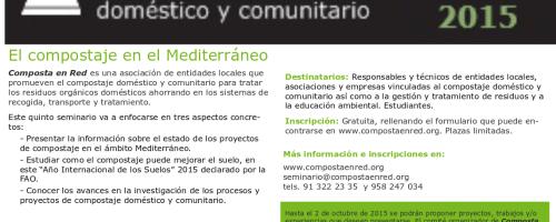 Seminario sobre compostaje doméstico y domiciliario (Compostaje en Red)