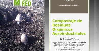 """Clase """"Compostaje de residuos agroindustriales"""" en el LIV Curso Internacional de Edafología y Biología Vegetal (Granada, 2017)"""