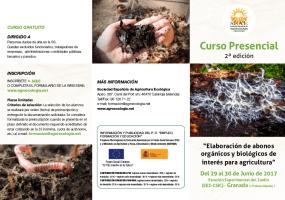 Curso sobre Elaboración de abonos orgánicos y biológicos para Agricultura (2ª edición, junio de de 2017)