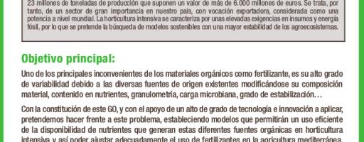 Uso eficiente de distintas fuentes de materia orgánica en agricultura mediterránea