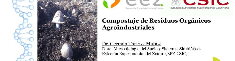 """Clase """"Compostaje de residuos agroindustriales"""" en el LVII Curso Internacional de Edafología y Biología Vegetal (Granada, 2021)"""