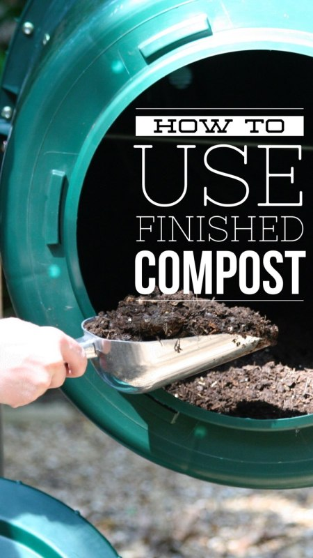 learn what do do with finished compost