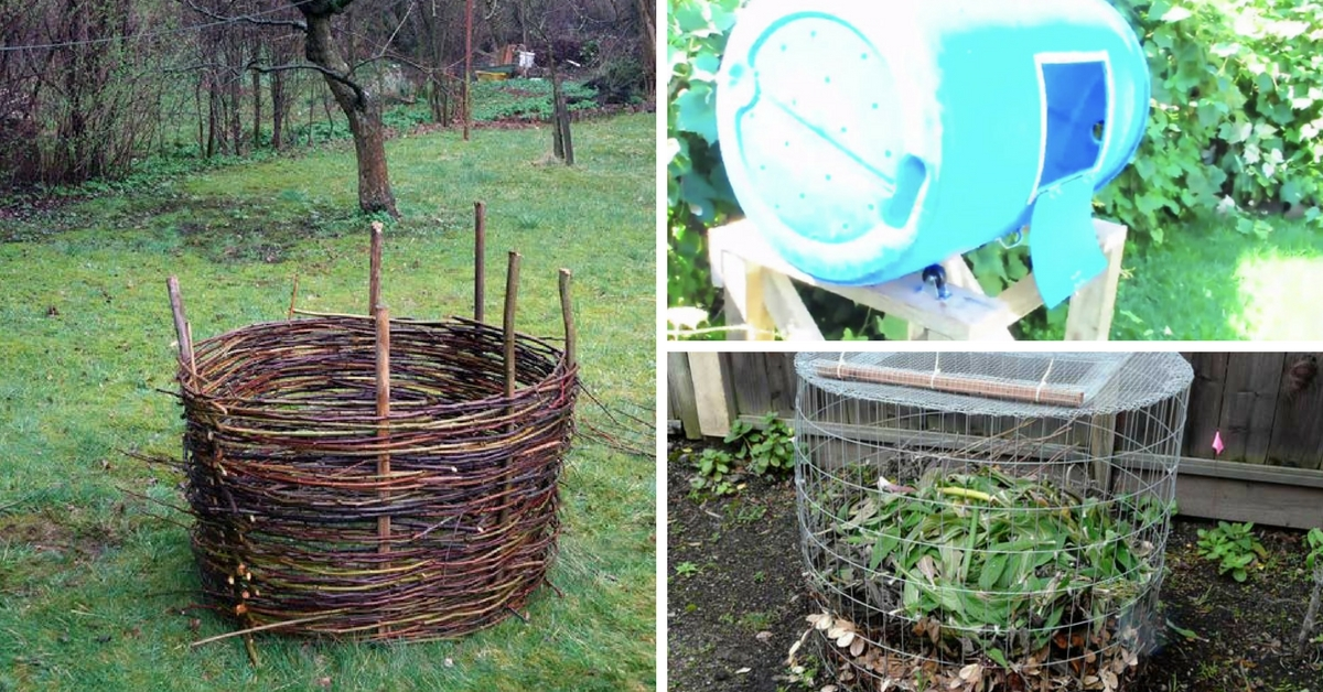 7 easy diy composter plans to build your own compost bin. Black Bedroom Furniture Sets. Home Design Ideas