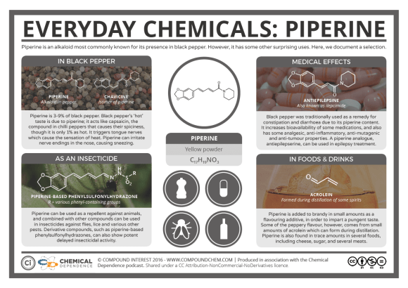 Everyday Chemicals – Pepper & Piperine