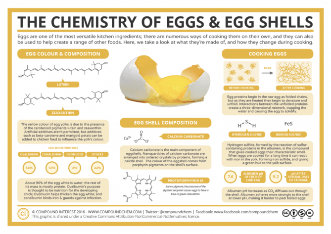 The Chemistry Of Eggs Amp Egg Shells Compound Interest