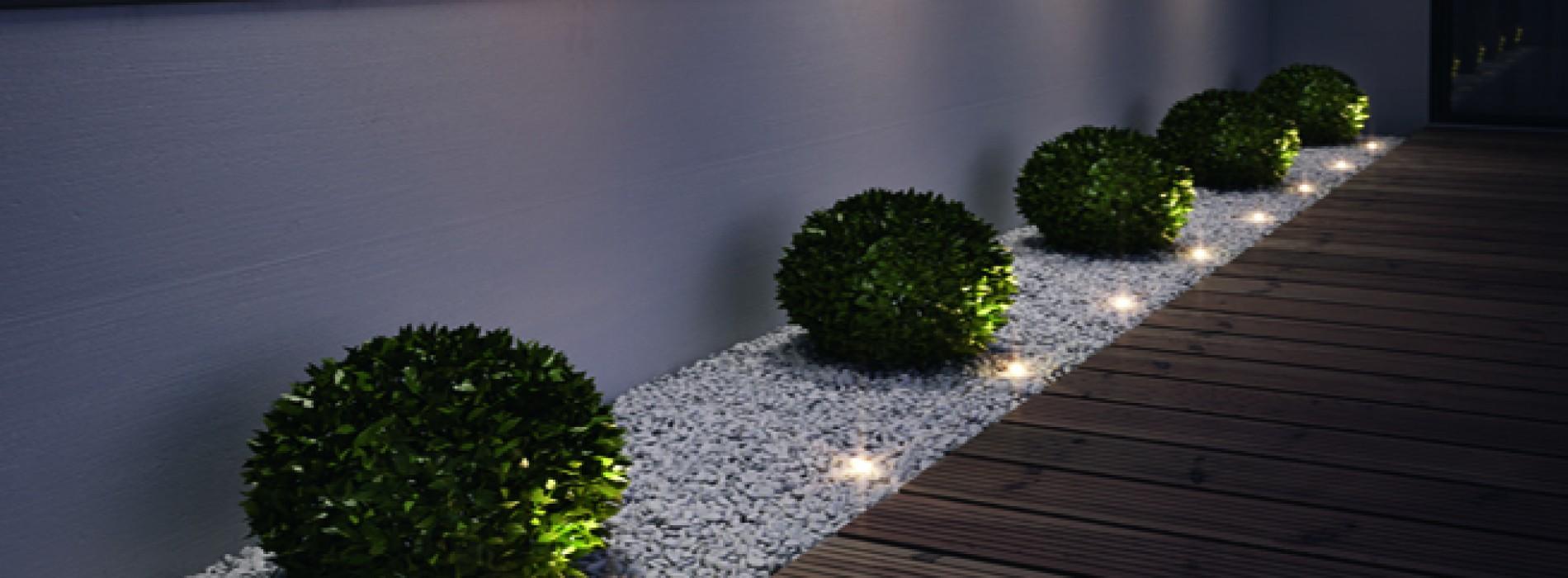 Iluminacion Led Exterior Jardin Good Iluminacin Con