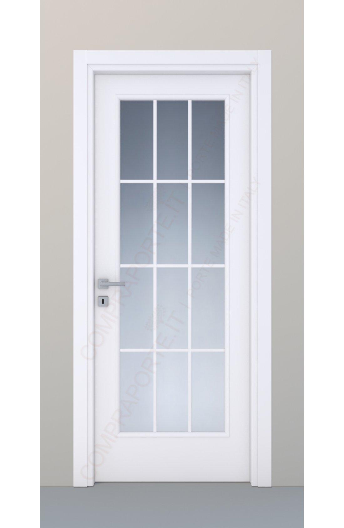 Porta a vetro allinglese mod113 VI  Noce nazionale