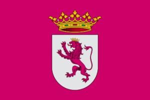 Bandera propuesta para representar al País Leonés, de color púrpura