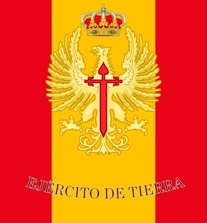 bandera de mochila del Ejército de Tierra español