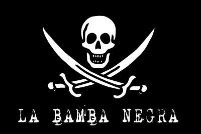 Bandera Pirata Personalizada Bamba Negra