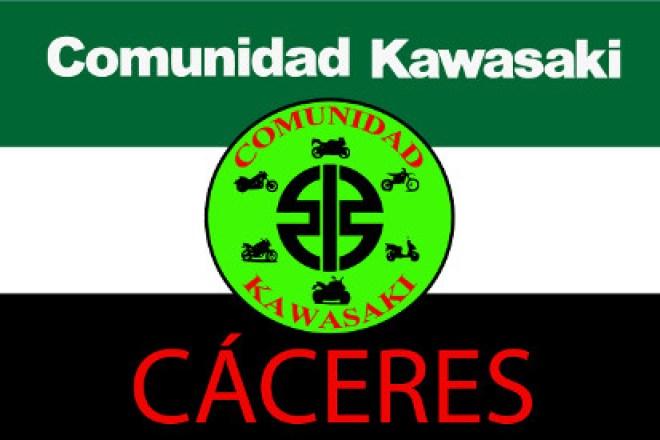 Bandera Comunidad Kawasaki Cáceres fondo Extremadura