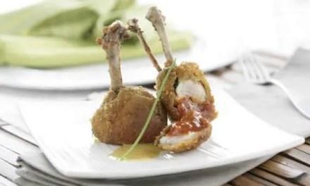 Alitas de pollo masala rellenas de sobrasada