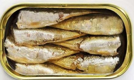 Menú saludable con sardinas en conserva y queso fresco