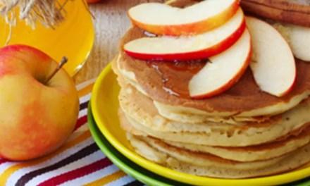 Hotcakes de manzana