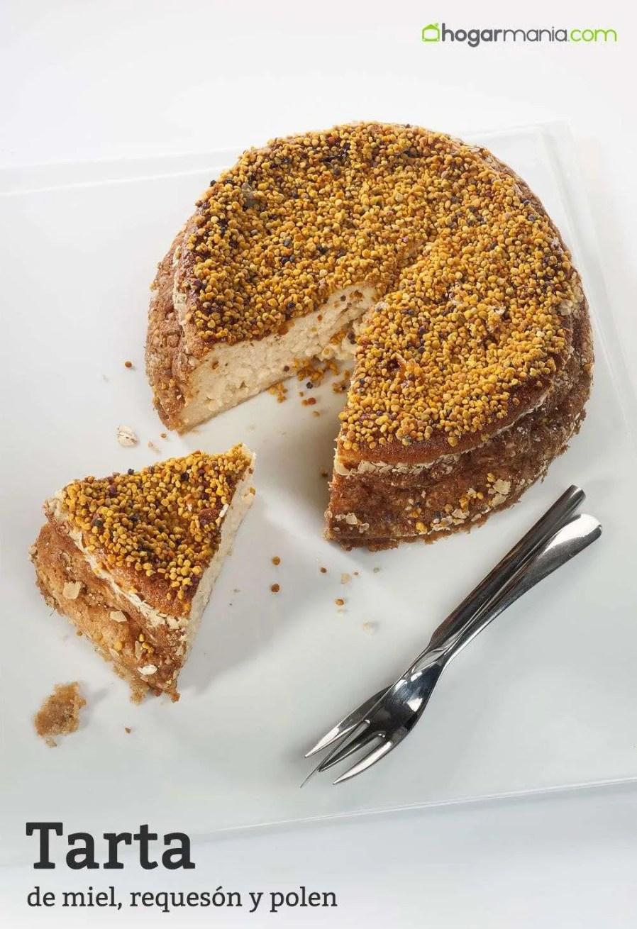 Receta de Tarta de miel, requesón y polen