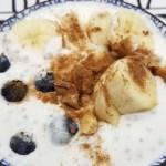 Receta de Kéfir de leche con semillas de chía y fruta