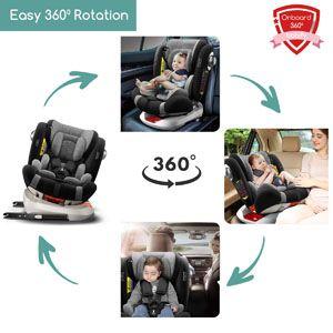 Silla de coche giratoria 360º para bebe - Babify On Board