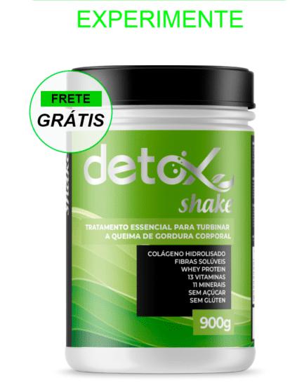 A composição do Detox Shake apresenta uma composição 100% natural.