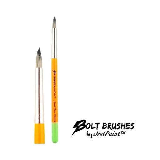 ¡El pincel pequeño y firme de Bolt es perfecto para todos tus pétalos de flores de doble carga!  <strong>El pincel que se muestra es una imagen completa y un plano cercano. El precio indicado es para un pincel.</strong> PINCELES PARA PINTAR CARAS DE JEST PAINT - SMALL FIRM BLOOMING BRUSH