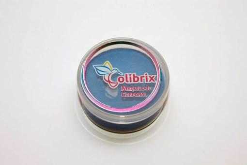 El maquillaje tiene un preparamiento orgánico lo que garantiza que no es toxico y a diferencia de otras marcas el nuestro posee un aroma a frutas que lo hace muy agradable para la gente. Color Azul Mate Colibrix 40 gr