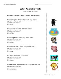 Comprehension Worksheets For Kindergarten | Search Results ...