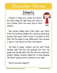 character education worksheets elementary school - 28 ...