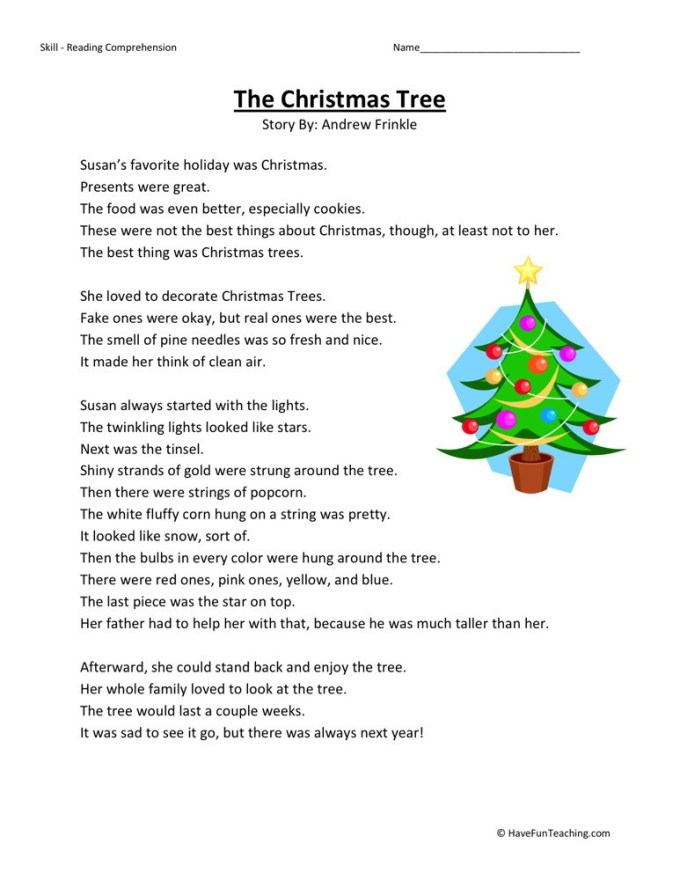 Christmas Reading Comprehension Worksheets 2nd Grade Christmaswalls