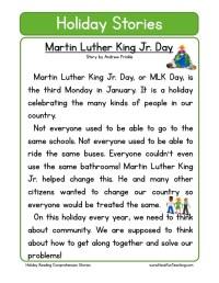 Martin Luther King Jr Worksheet For 2nd Grade - Kidz ...