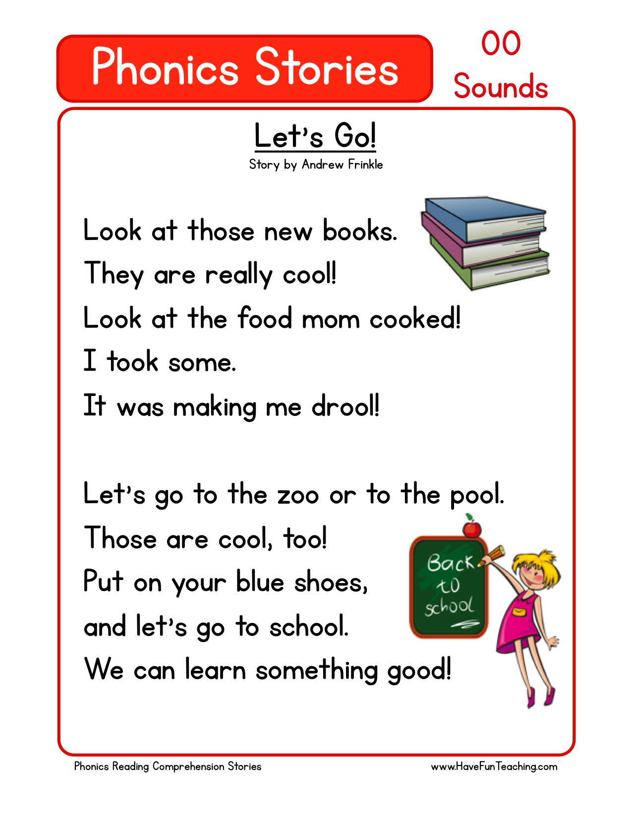 Phonics Reading Comprehension Worksheets