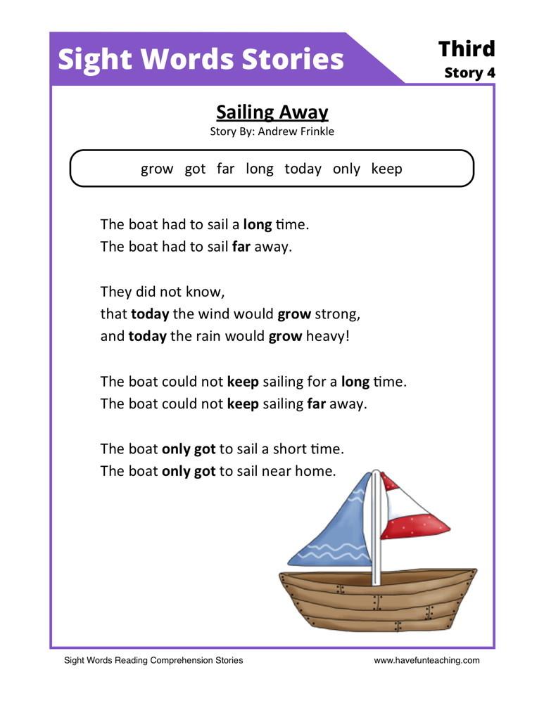 Fourth Grade Reading Worksheets