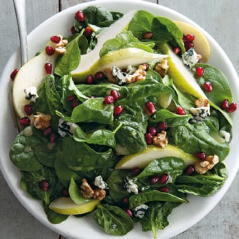 Spinach, Pear & Pomegranate Salad