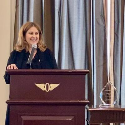 Allyson Mayo, DBH, receives award from Constellation Behavioral Health