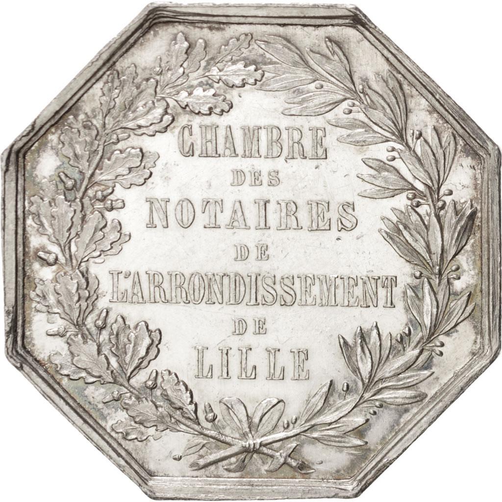 401242 Chambre des Notaires de larrondissement de Lille Jeton Lerouge 161  SUP Jeton  De