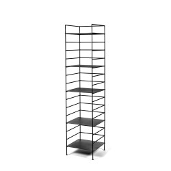 etagere issa acier noir 38x38 h155cm antonino sciortino serax